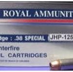 ลูกกระสุน .38 spl JHP Royal