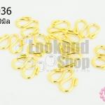 ตะขอตัว M สีทอง 13X10มิล (10ชิ้น)