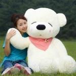 ตุ๊กตาหมีหลับ ตุ๊กตาตัวใหญ่ ขนาด 1.2 เมตร สีขาว
