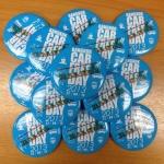 """เข็มกลัด Bangkok Car Free Day 2013 """" รายได้ทั้งหมดบริจาคเข้ามูลนิธิชัยพัฒนา """""""