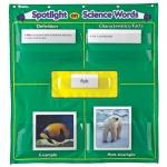 สื่อการเรียนการสอน อุปกรณ์การเรียน Spotlight on Science Words Pocket Chart (ส่งฟรี)