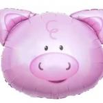 ลูกโป่งฟลอย์ หน้าหมู - Pig Face Foil Balloon / Item No. TL-B046
