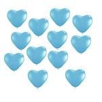 ลูกโป่งหัวใจเนื้อมุก สีฟ้าอ่อน ไซส์ 12 นิ้ว แพ็คละ 10 ใบ (Heart Shape Balloon-Pearl Light Blue Color)