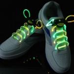 เชือกผูกรองเท้าไฟ LED สีเขียว/สีเหลือง Shoelace - LED Green/Yellow color