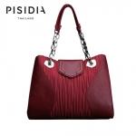 กระเป๋าแบรนด์เนม PISIDIA รุ่น STRESA สีแดงเข้ม (ส่งฟรี EMS)