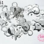 ลูกปัดบาหลี รูปช้าง 20x15 มิล (1ชิ้น)