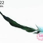 ขนนกไล่สี สีเขียวฟ้า ยาว 45 ซม. (1ชิ้น)
