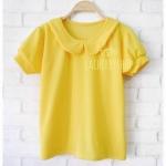 พร้อมส่งค่ะ เสื้อแฟชั่น เสื้อทำงาน สีเหลือง แบบสวยมาใหม่ รุ่นคอบัว แขนตุ๊กตา แบบสวยน่ารักมากๆ