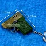ไฟแช็คปืนออโต้สีทอง พวงกุญแจ