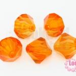ลูกปัดคริสตัลพลาสติก หัวท้ายแหลม สีส้ม