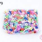 จี้พลาสติก สีขุ่น ตัวอักษร คละสี (1กิโล/1,000กรัม)