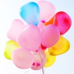 ลูกโป่งหัวใจเนื้อมุก สีชมพูอ่อน ไซส์ 12 นิ้ว แพ็คละ 10 ใบ (Heart Shape Balloon-Pearl Light Pink Color)