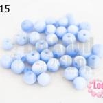 ลูกปัดแก้ว ตาแมว สีน้ำเงินอ่อน 8มิล (1ขีด/100กรัม)