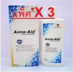 ACNE-AID Gental Cleanser 100ML สบู่เหลวล้างหน้า ราคาส่งแพ็ค 3 ขวด เฉลี่ย 173 บาท
