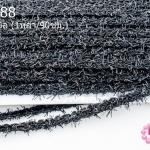ผ้าลูกไม้มีดิ้น สีดำ กว้าง 9มิล (1หลา/90ซม.)
