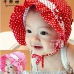 หมวกเด็กหญิงสีแดง สีชมพูเข้ม PB34