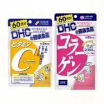 DHC Vitamin C 120 เม็ด + DHC Collagen 360 เม็ด อาหารเสริมขายดีอันดับ 1 ในญี่ปุ่น