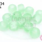 ลูกปัดแก้ว ทรงกระบอก สีเขียวอ่อน (ขุ่น) 10มิล(1ขีด/100กรัม)