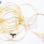 โครงต่างหู สีทอง 40 มิล(5คู่)