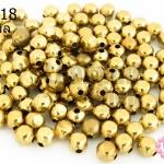 ลูกปัดทองเหลือง กลมเจียร 4X5มิล (1ขีด/100กรัม)