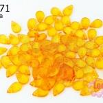 ลูกปัดพลาสติกทรงหยดน้ำ 6X9มิล สีส้ม(1,113เม็ด)
