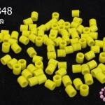 เม็ดบีทรีดร้อน สีเหลืองหม่น 5 มิล (1ขีด/100กรัม)
