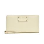 กระเป๋าสตางค์ Kate Spade รุ่น Neda Leather Wellesley Porcelain Wallet WLRU1153
