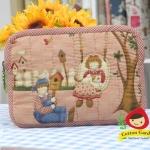 กระเป๋าใส่ Mini Ipad ลาย Bess & Billy สไตล์คันทรี ผ้าญี่ปุ่นแท้ ควิลล์มือค่ะ ปกป้องไอแพดที่รักของคุณ น่ารักไม่ซ้ำใคร