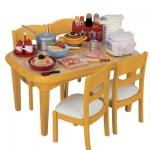 Re-ment ชุดโต๊ะรับประทานอาหาร(ไม่รวมของตกแต่ง)