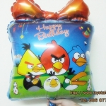ลูกโป่งฟลอย์ Happy Birthday Angry Bird - Foil Balloon Happy Birthday Angry Bird / Item No. TL-D039
