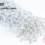 ตูดต่างหูสูญกาศ สีเงิน 12มิล (2,000ชิ้น/1,000คู่)