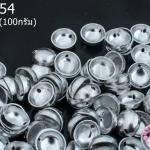 ฝาครอบสีเงินแบบสอย 2 รู D #4 8มิล(1ขีด/780ชิ้น)