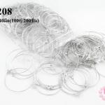 โครงต่างหู กลม สีโรเดียม 40มิล(100คู่/200ชิ้น)