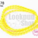 สร้อยคอเชือกถักเกลียว สีเหลือง 62ซม(1เส้น)