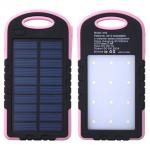 แบตสำรอง Power Bank พลังงานแสงอาทิตย์ 3 ระบบ สามารถชาร์จไฟบ้านได้ และมีไฟฉายในตัว กันน้ำได้ Solar Charger with LED Light ขนาด 50000 mAh