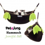 PJ-HAM002-JG2 PetsJunG - Hammock Jungle Set เปลญวน (35x12cm.)