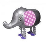 Silver Elephant Walking Balloons - ช้างน้อยบอลลูน สีเงิน / Item No. TL-K007