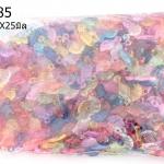 จี้พลาสติก สีใส ใบไม้ คละสี 11X25มิล (1กิโล/1,000กรัม