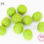 ลูกบอล Feit 15มิล #3 สีเขียวอ่อน (5ลูก)