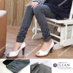 กางเกงเลคกิ้งผ้ายืด ขายาว : สีดำ รหัส PN002
