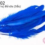 ขนนก(ก้าน) สีน้ำเงิน (5ชิ้น)