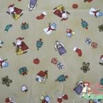 ผ้าคอตตอนญี่ปุ่น ลาย คริสมาส คอทเทจ ( Christmas Cottage) เนื้อบาง ค่ะ