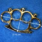 สนับมือ สีทอง ลายหัวกะโหลก ขนาด 2.5x4.0 นิ้ว