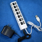 7 Port HUB+Switch+Power Adapter