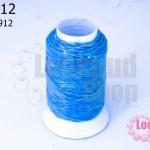 เชือกเทียน ตราลูกบอล(ม้วนเล็ก) สีฟ้า 912(1ม้วน)
