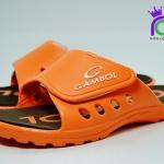 รองเท้าแตะ GAMBOL แกมโบล รุ่น GM 43102 สีส้ม/น้ำตาล เบอร์ 4-9