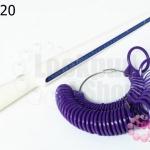 ทีวัดแหวนพร้อมห่วงแหวน สีม่วง (1ชุด)