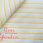 ผ้าฝ้ายญี่ปุ่น ลายทางสีส้ม เหลือง จาก Lecien ตัดเสื้อได้ หรือ ทำผ้ารองซับๆใน สำหรับกระเป๋า กุ้นขอบ ฯลฯ เนื่อดีราคาประหยัดค่ะ