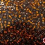 ลูกปัด MATSUNO ปล้องสั้น สีน้ำตาล 2X2มิล(100กรัม)