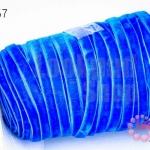 เชือกผ้า ริบบิ้นกำมะยี่ สีน้ำเงิน (1ม้วน/50หลา)